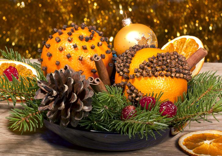 Orange-pomander-centerpiece